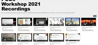 Screenshot of the PODs Workshop playlist on Vimeo