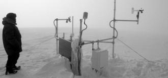 The Akuliaqattak weather station near the Inuit community Clyde River in Nunavut, Canada.