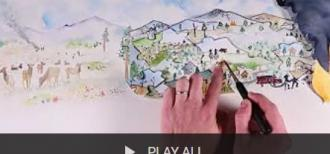"thumbnail image to ""play all"" wildfire risk management video series"