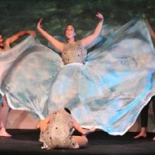Dancers from the CoMotion Dance Project demonstrate the lifecycle of the bull trout (photo by Melissa Sladek).