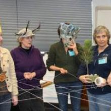 Photo of educators using the Fireworks educational materials.