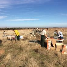 Science team monitoring in the field