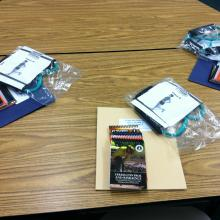 Hand outs and supplies for HPIOL wellness training.