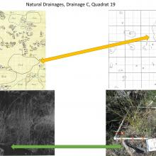 Natural Drainages, Drainage C, Quadrat 19 - photo comparisions of historical and current plots - Sierra Ancha Experimental Forest