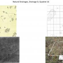 Natural Drainages, Drainage D, Quadrat 16 - photo comparisions of historical and current plots - Sierra Ancha Experimental Forest