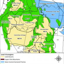 A cross-walk between Level II and Level III Ecoregions (EPA 2016) and sage-grouse Management Zones (MZs; Stiver et al. 2006).