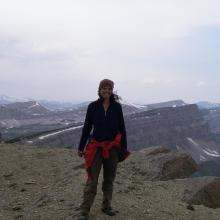 Biological Scientist Sara Goeking in the Bob Marshall Wilderness Area, Flathead National Forest, Montana.