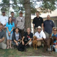 The 2009 Mexican spotted owl demography crew, Cloudcroft, New Mexico (Photo by unknown RMRS employee).
