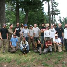The 2005 Mexican spotted owl demography crew, Cloudcroft, New Mexico (Photographer unknown).