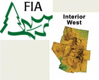 FIA logo and footpring of the Interior West Forest Inventory and Analysis Program