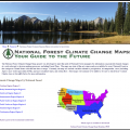 View of the National Forest climate change maps website.