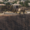 Wildfire in a wildland-urban interface (photo by Kari Greer)