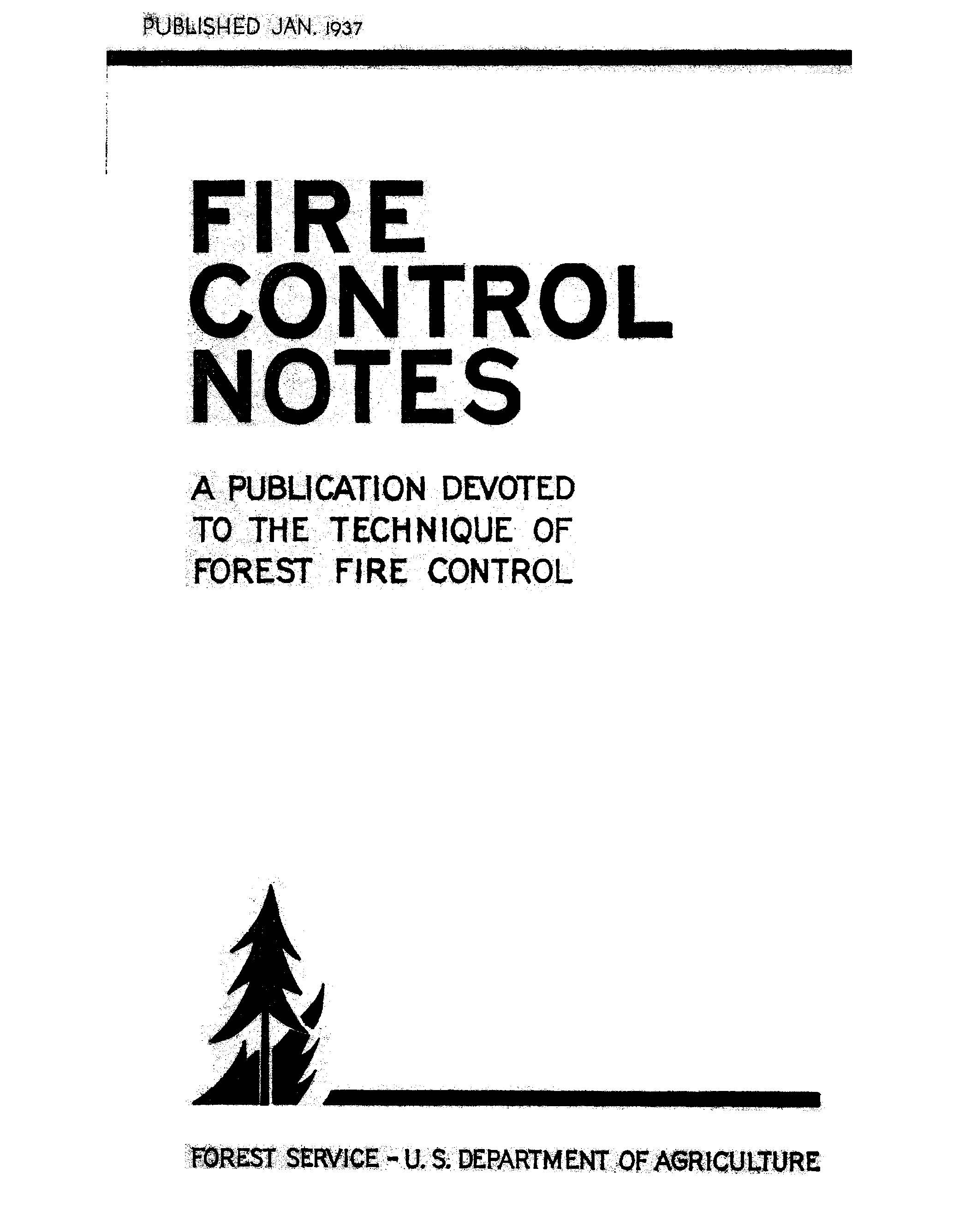 Cover of Fire Management Today Volume 01, Issue 02