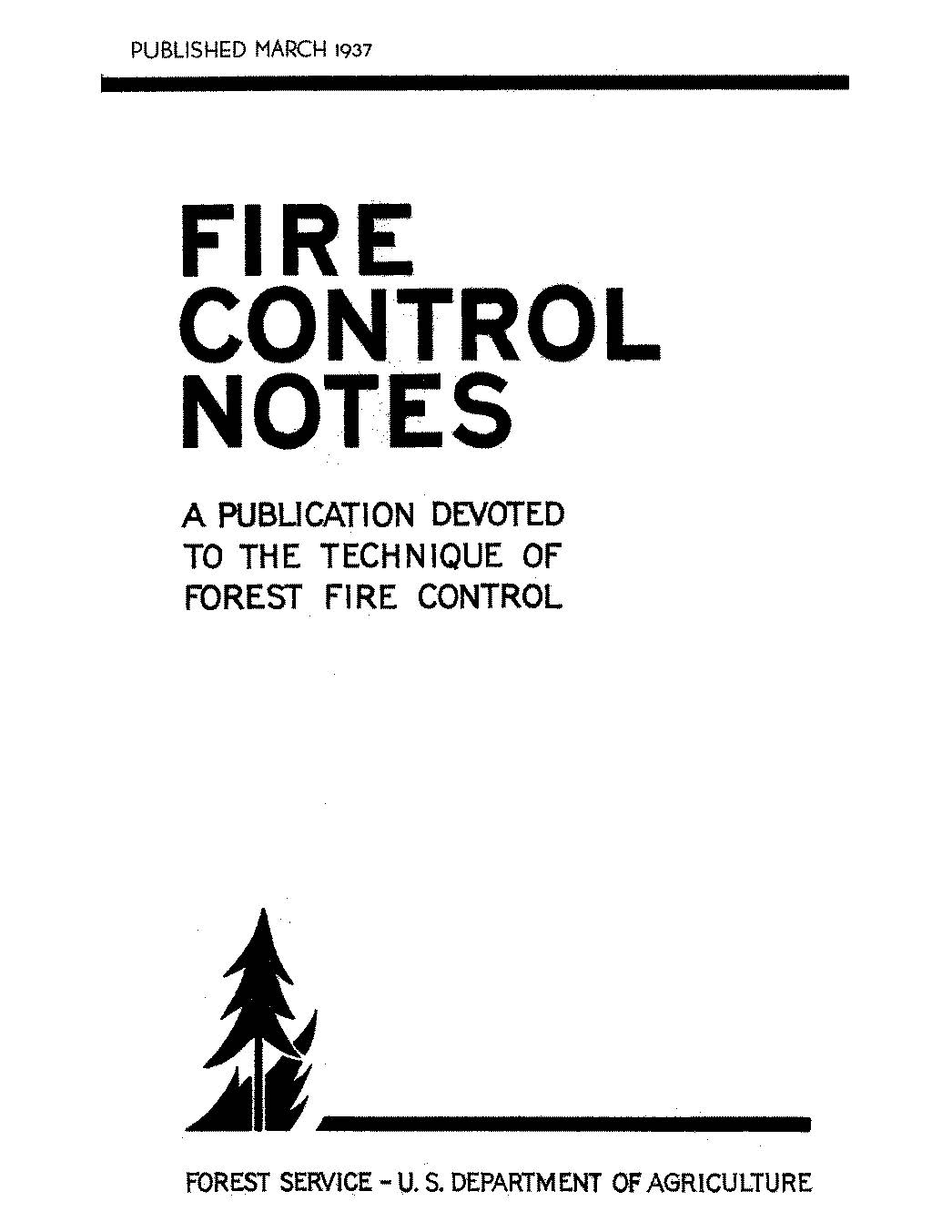 Cover of Fire Management Today Volume 01, Issue 03