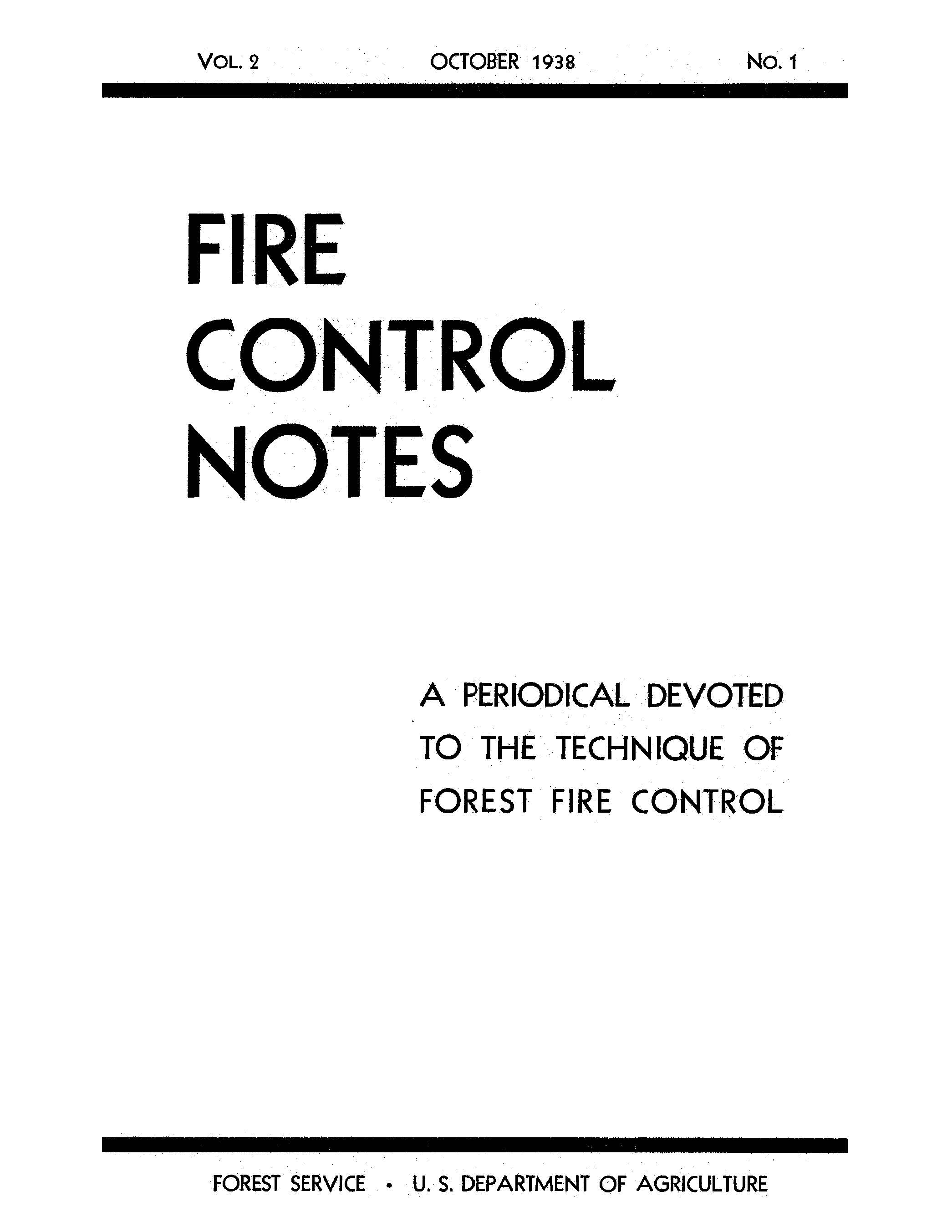 Cover of Fire Management Today Volume 02, Issue 01