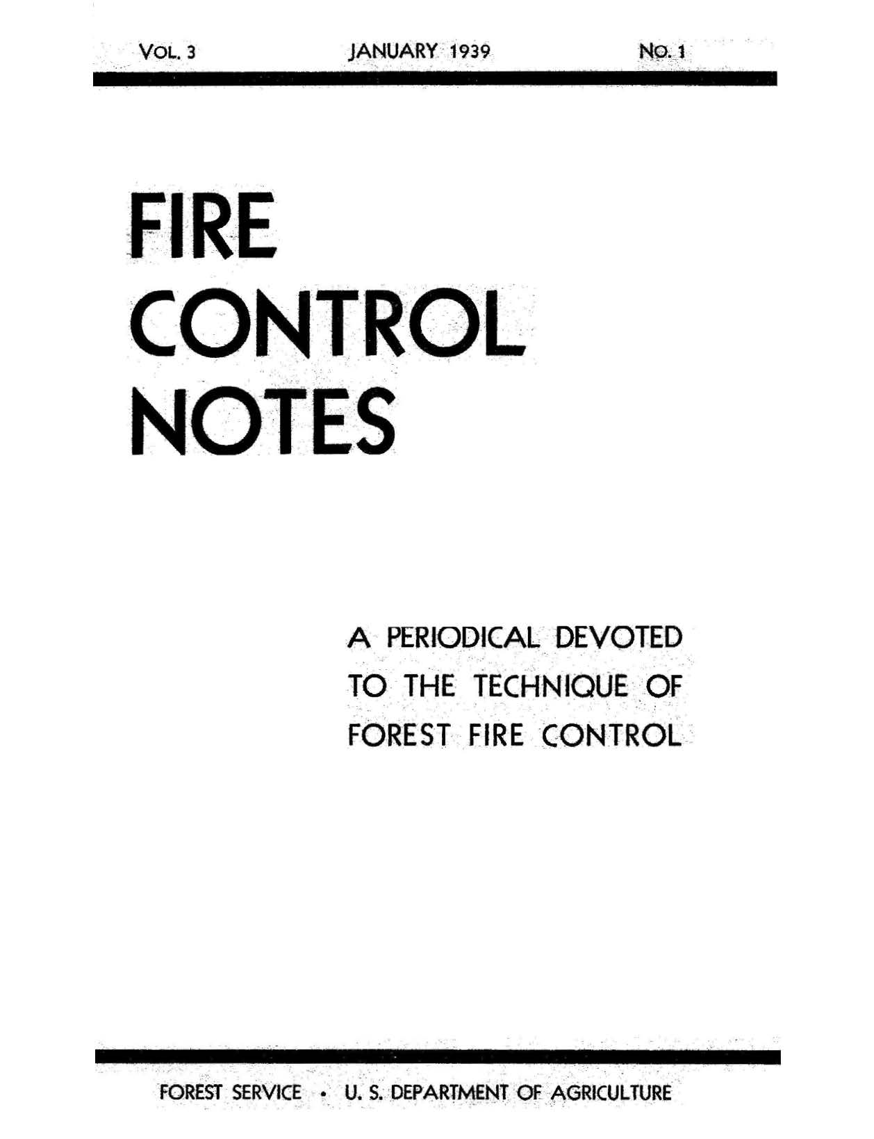 Cover of Fire Management Today Volume 03, Issue 01