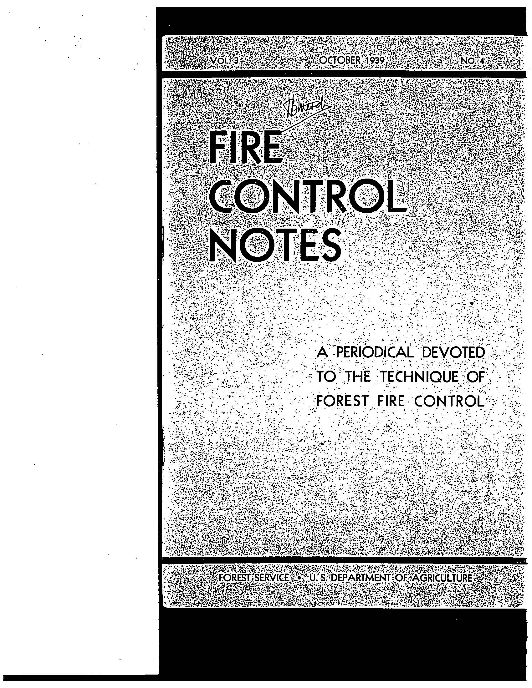 Cover of Fire Management Today Volume 03, Issue 04