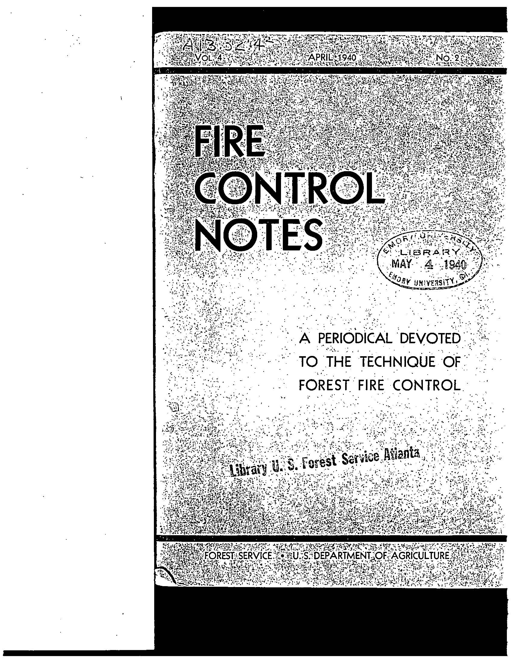 Cover of Fire Management Today Volume 04, Issue 02