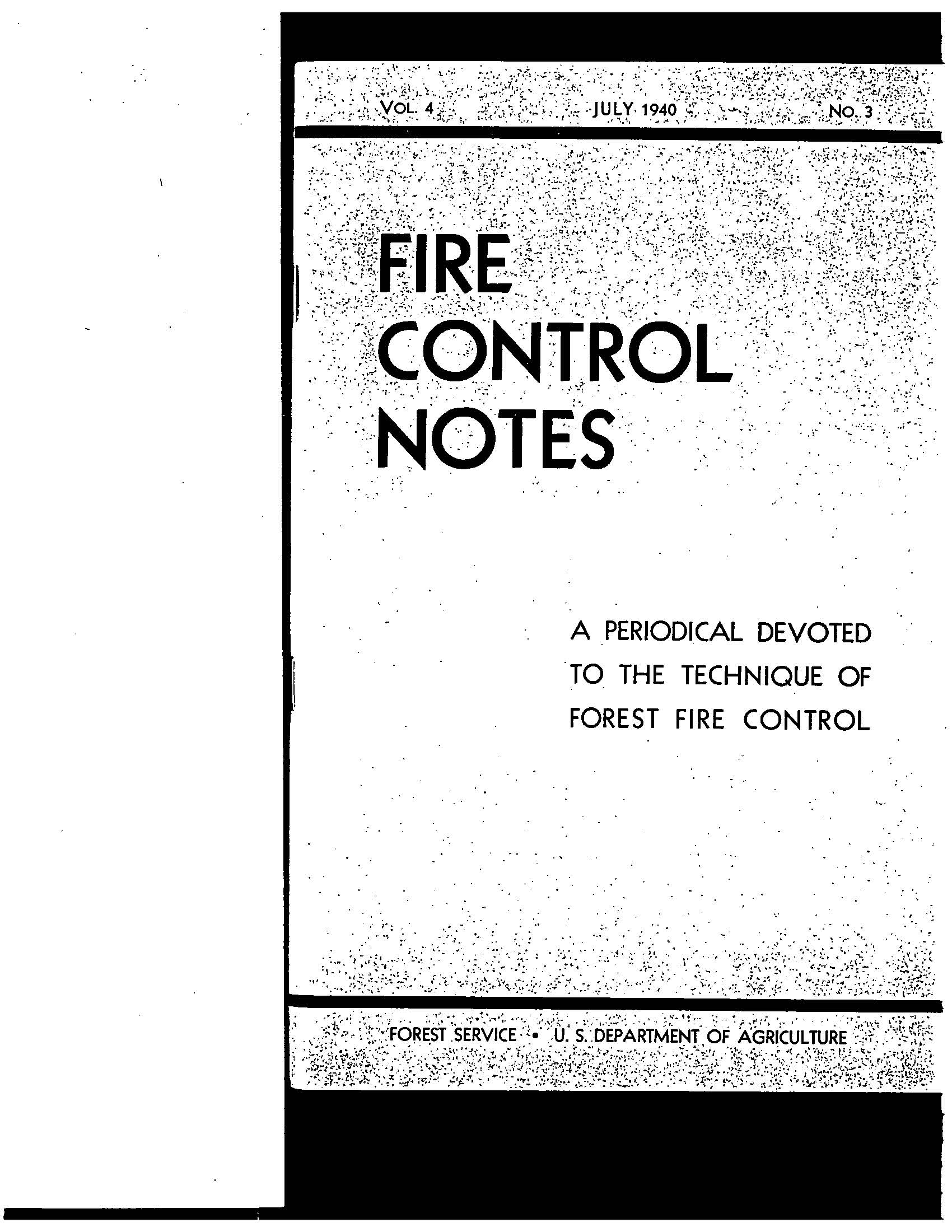 Cover of Fire Management Today Volume 04, Issue 03