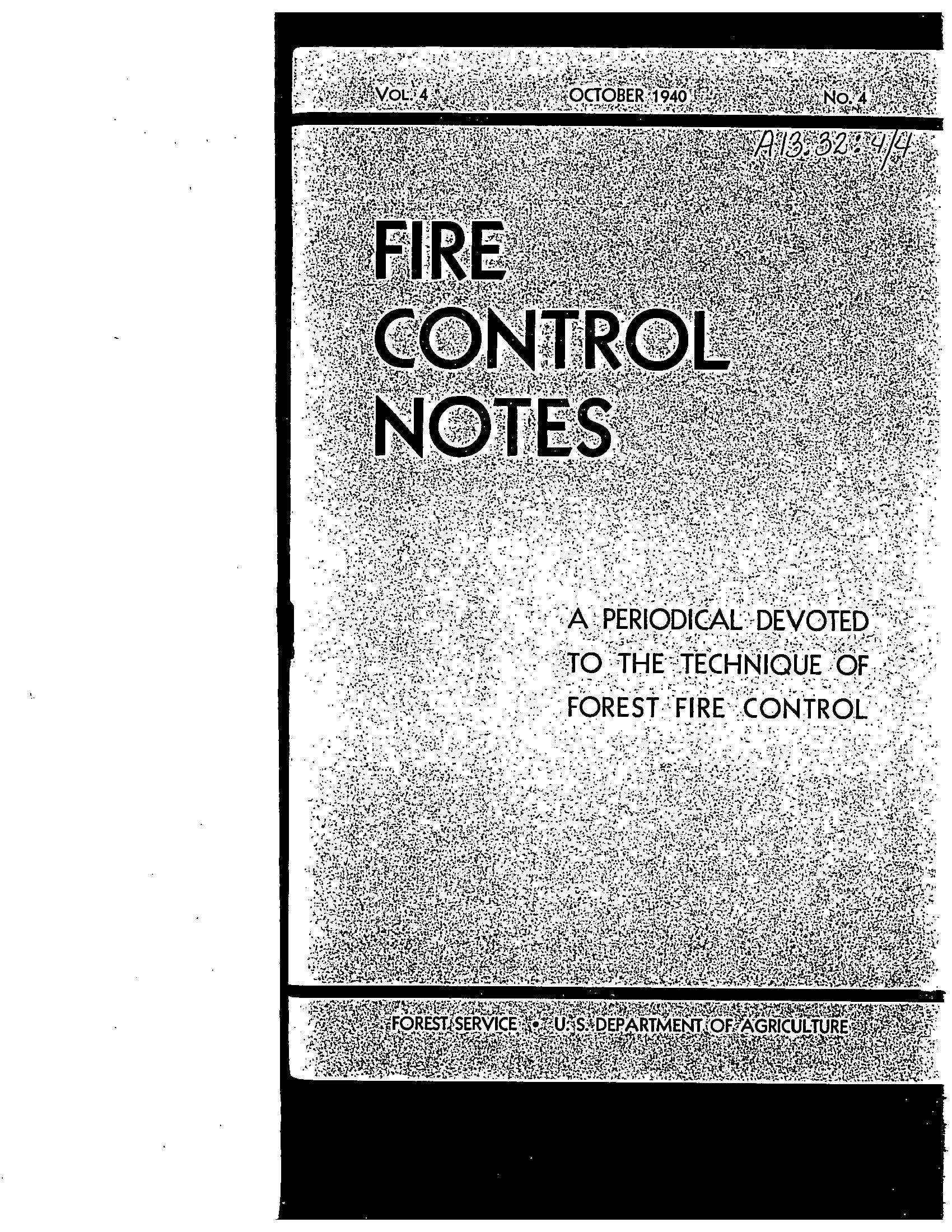 Cover of Fire Management Today Volume 04, Issue 04