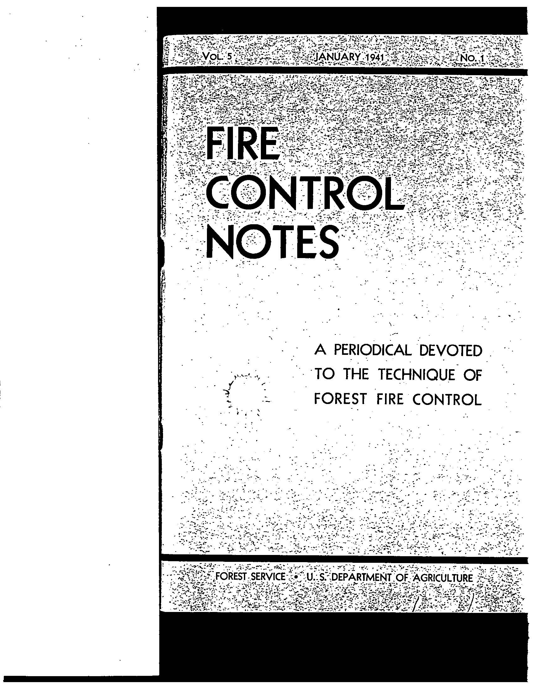 Cover of Fire Management Today Volume 05, Issue 01