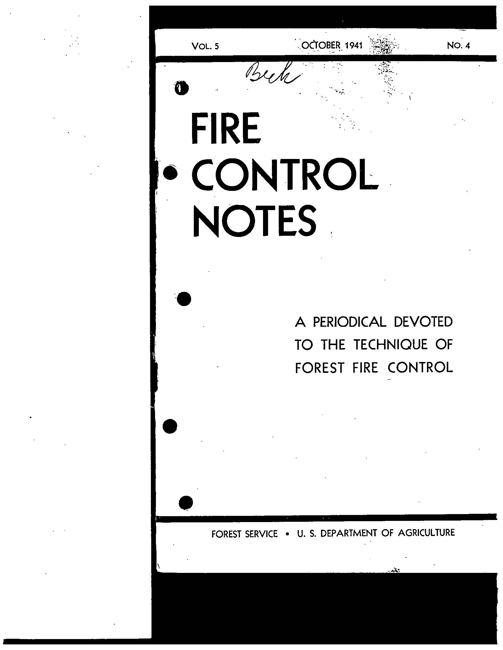 Cover of Fire Management Today Volume 05, Issue 04