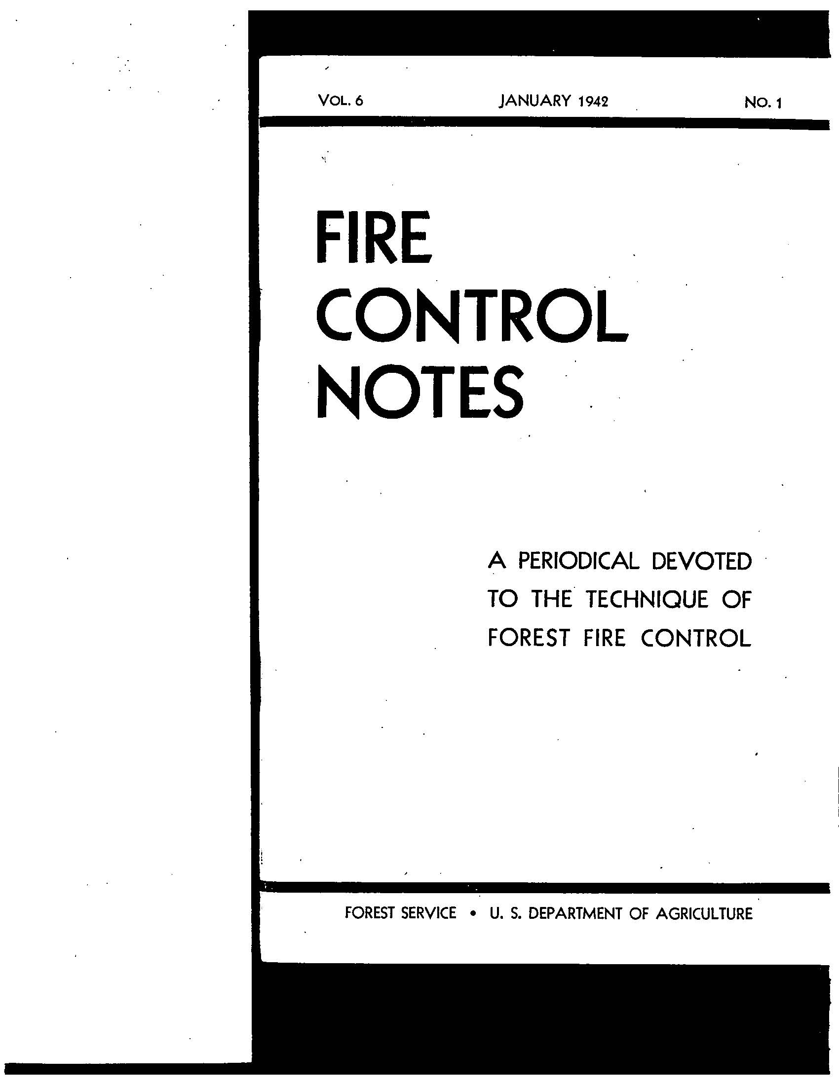 Cover of Fire Management Today Volume 06, Issue 01