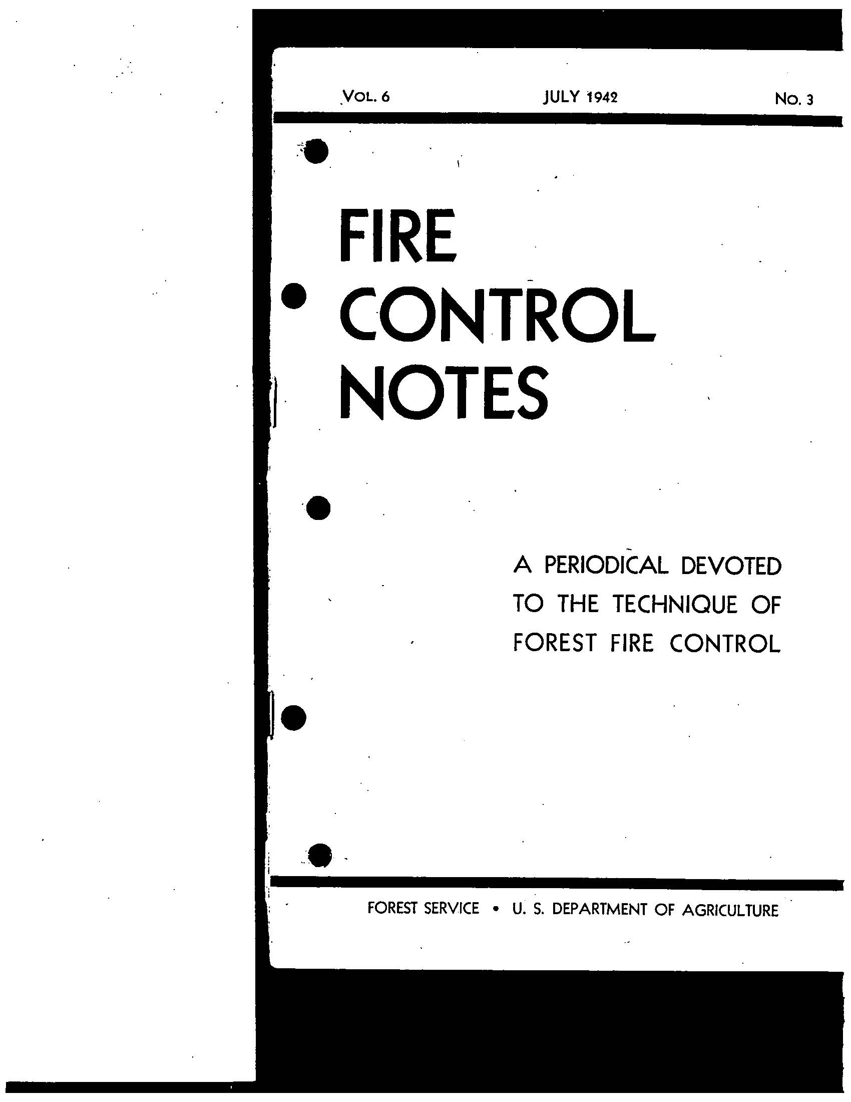 Cover of Fire Management Today Volume 06, Issue 03