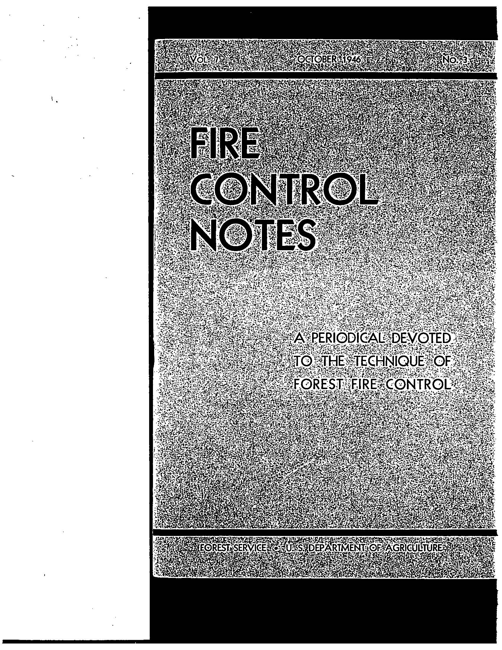 Cover of Fire Management Today Volume 07, Issue 03