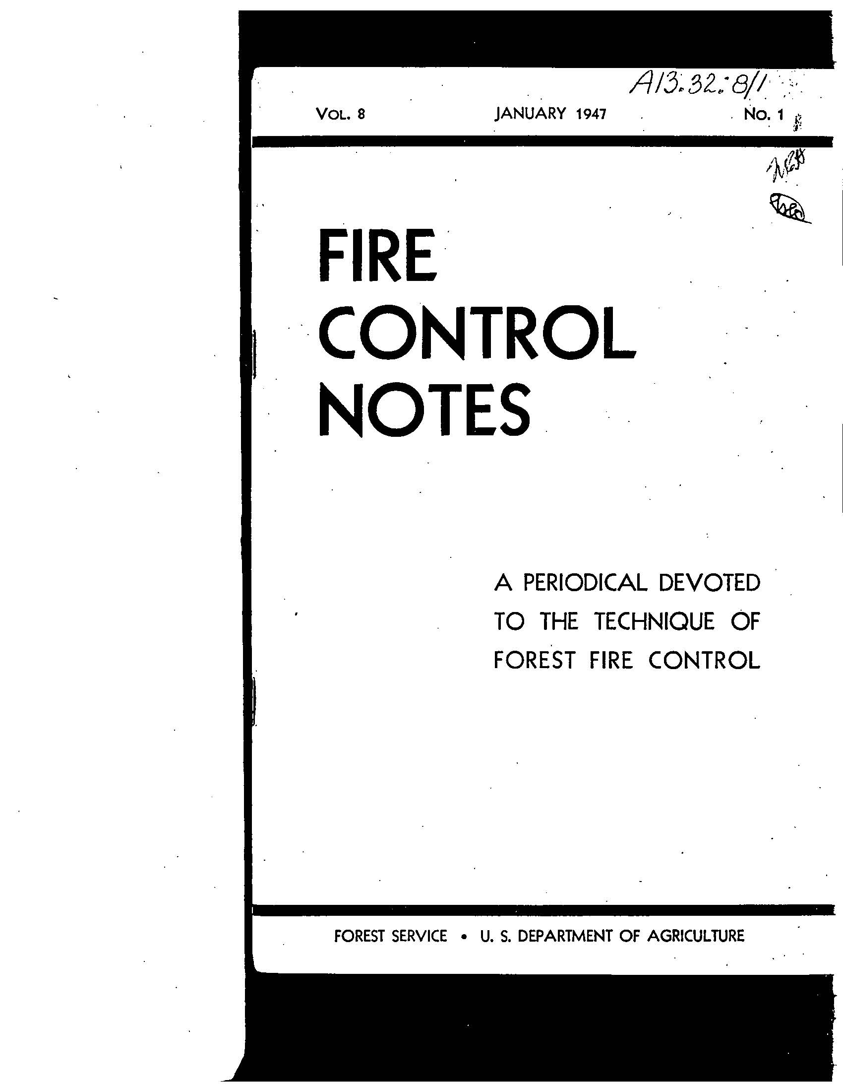 Cover of Fire Management Today Volume 08, Issue 01