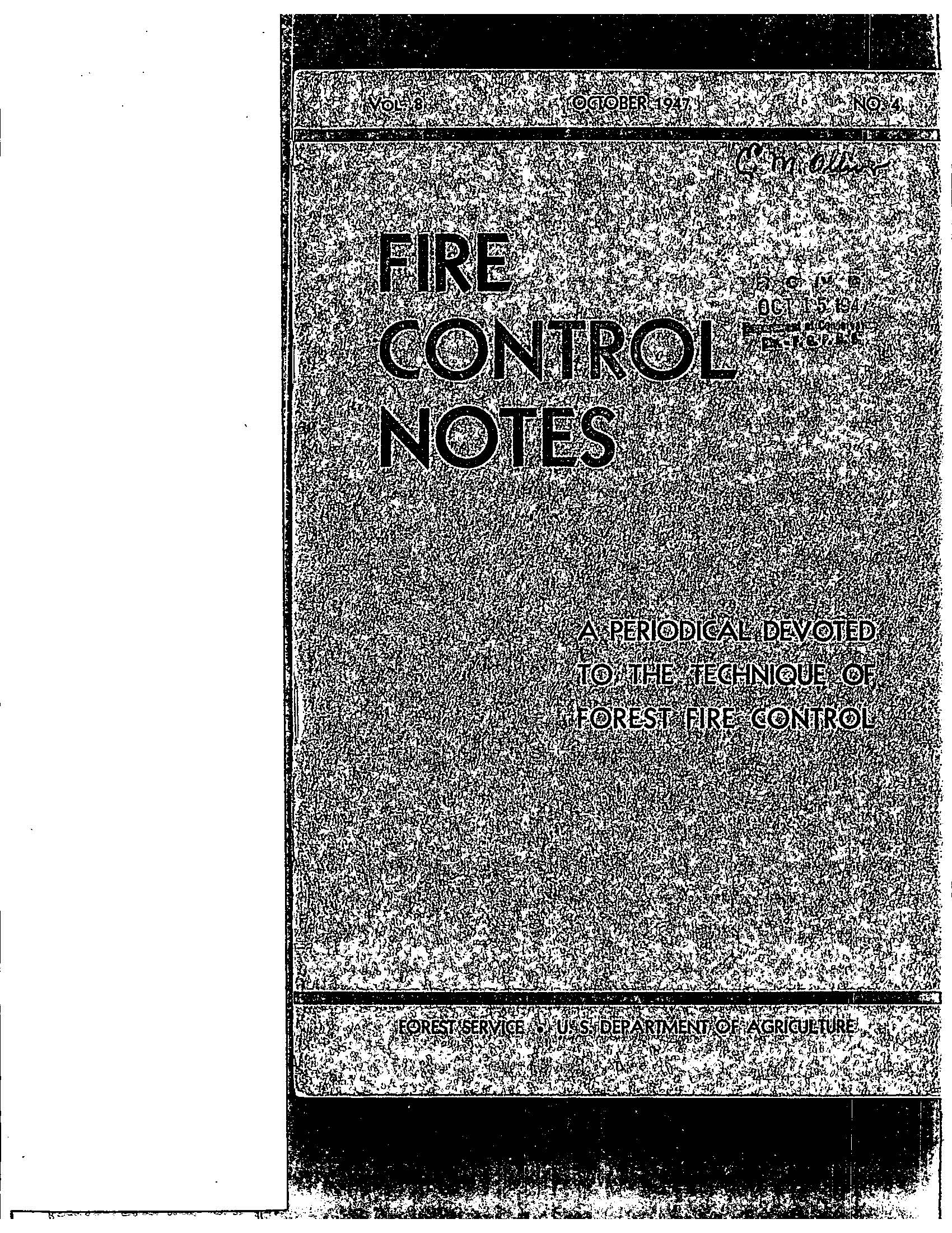 Cover of Fire Management Today Volume 08, Issue 04