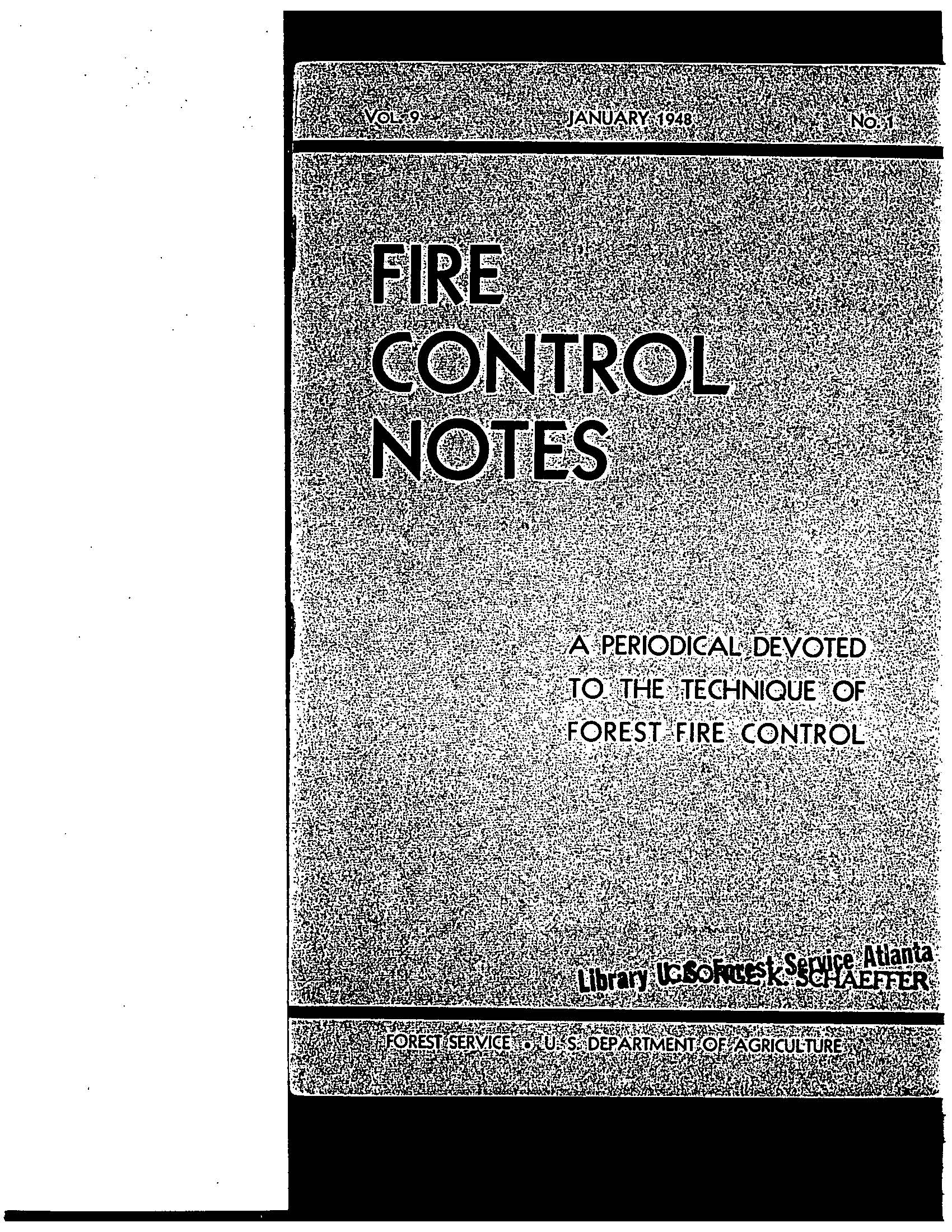 Cover of Fire Management Today Volume 09, Issue 01