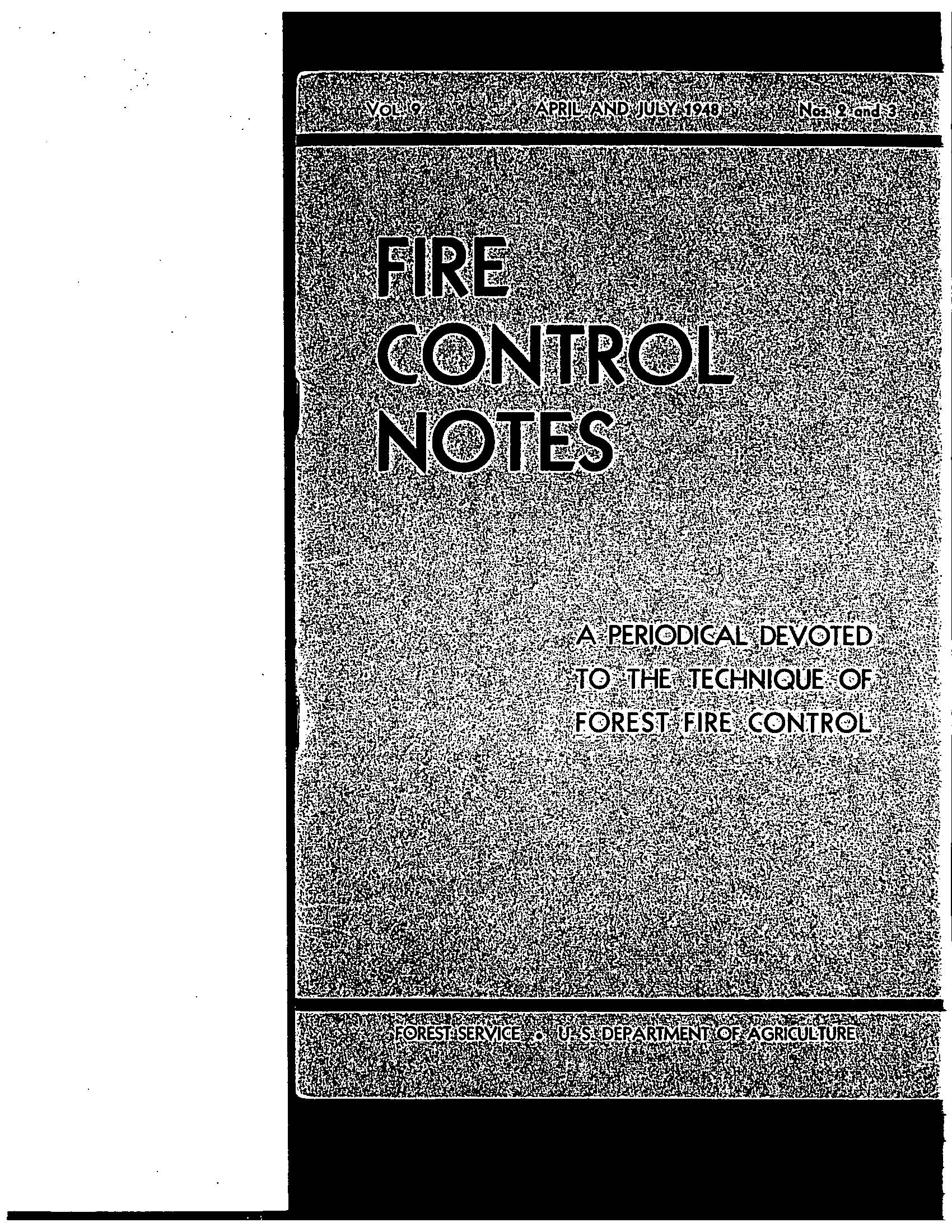 Cover of Fire Management Today Volume 09, Issue 03