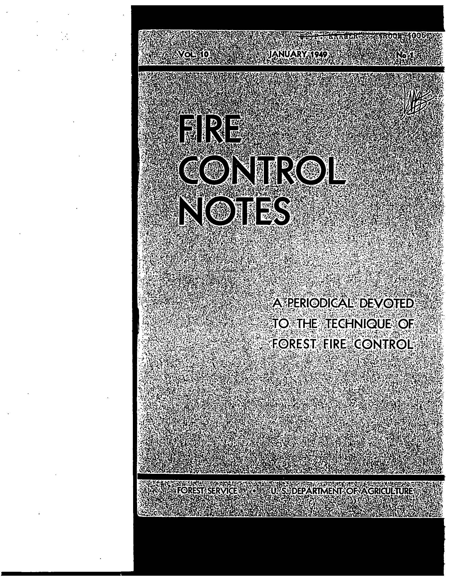 Cover of Fire Management Today Volume 10, Issue 01