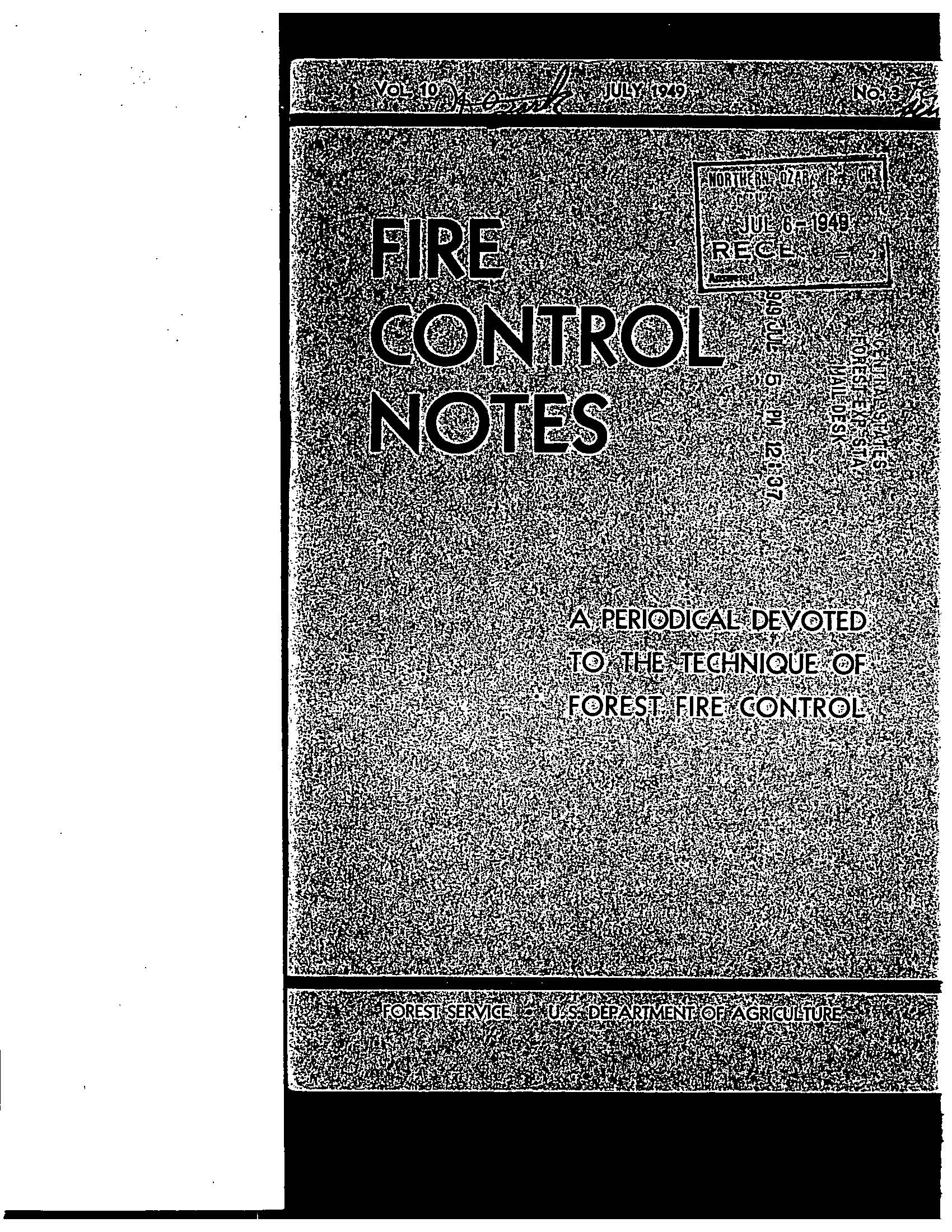 Cover of Fire Management Today Volume 10, Issue 03