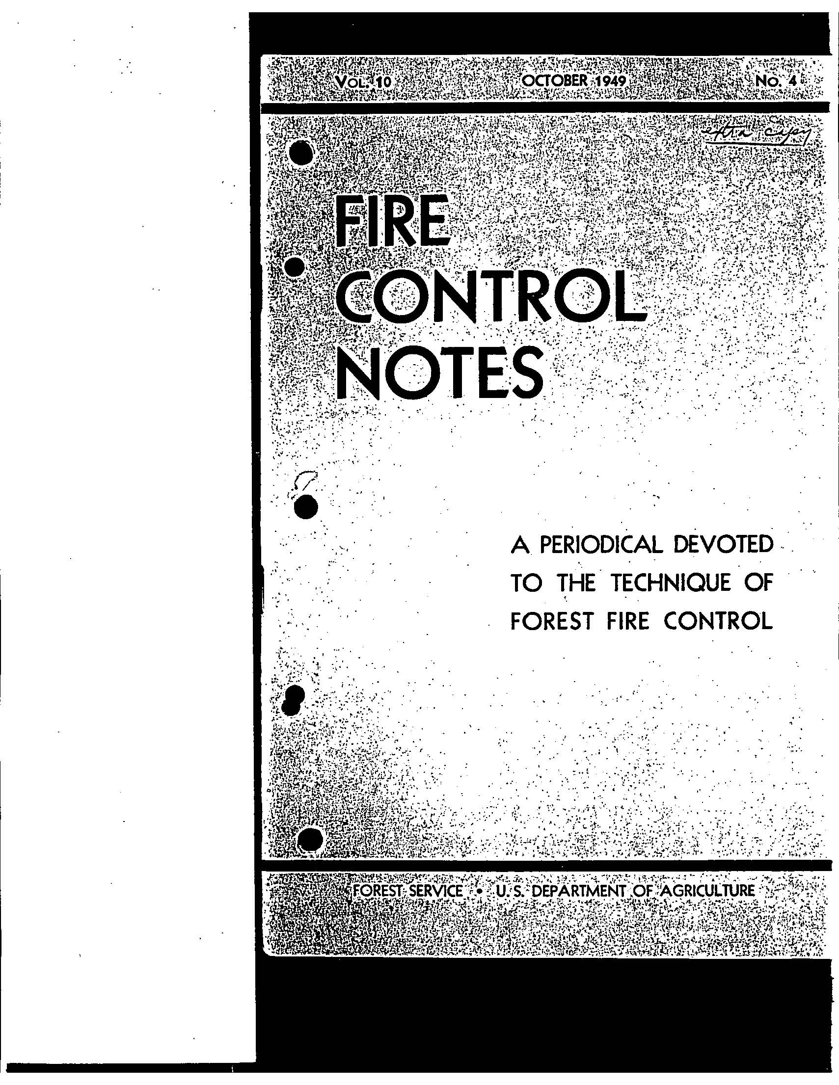 Cover of Fire Management Today Volume 10, Issue 04