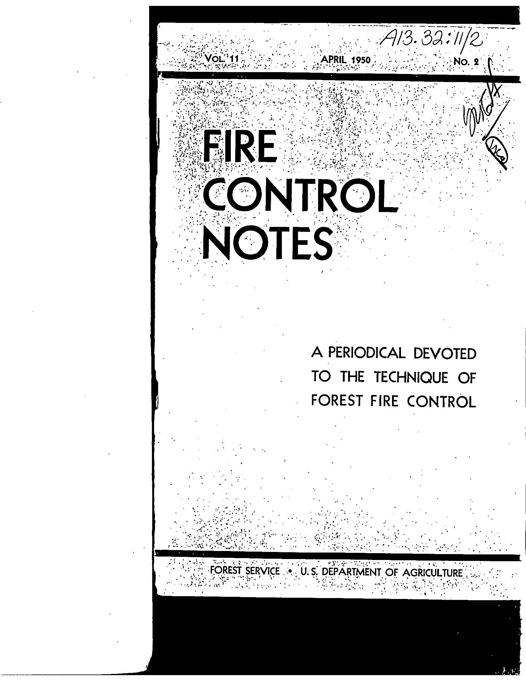 Cover of Fire Management Today Volume 11, Issue 02