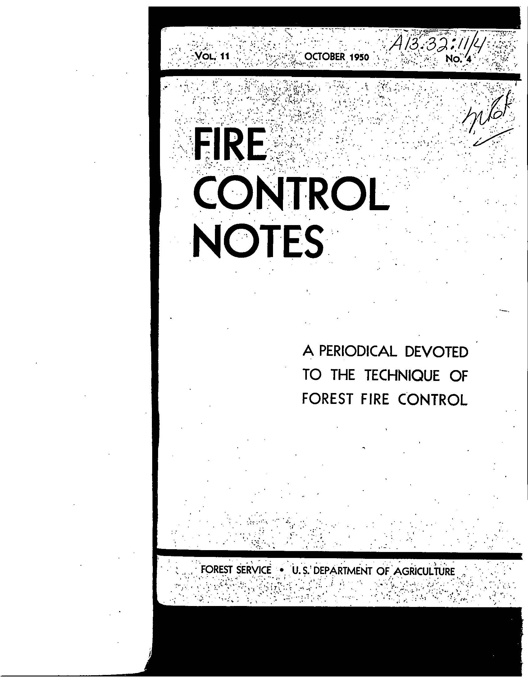 Cover of Fire Management Today Volume 11, Issue 04