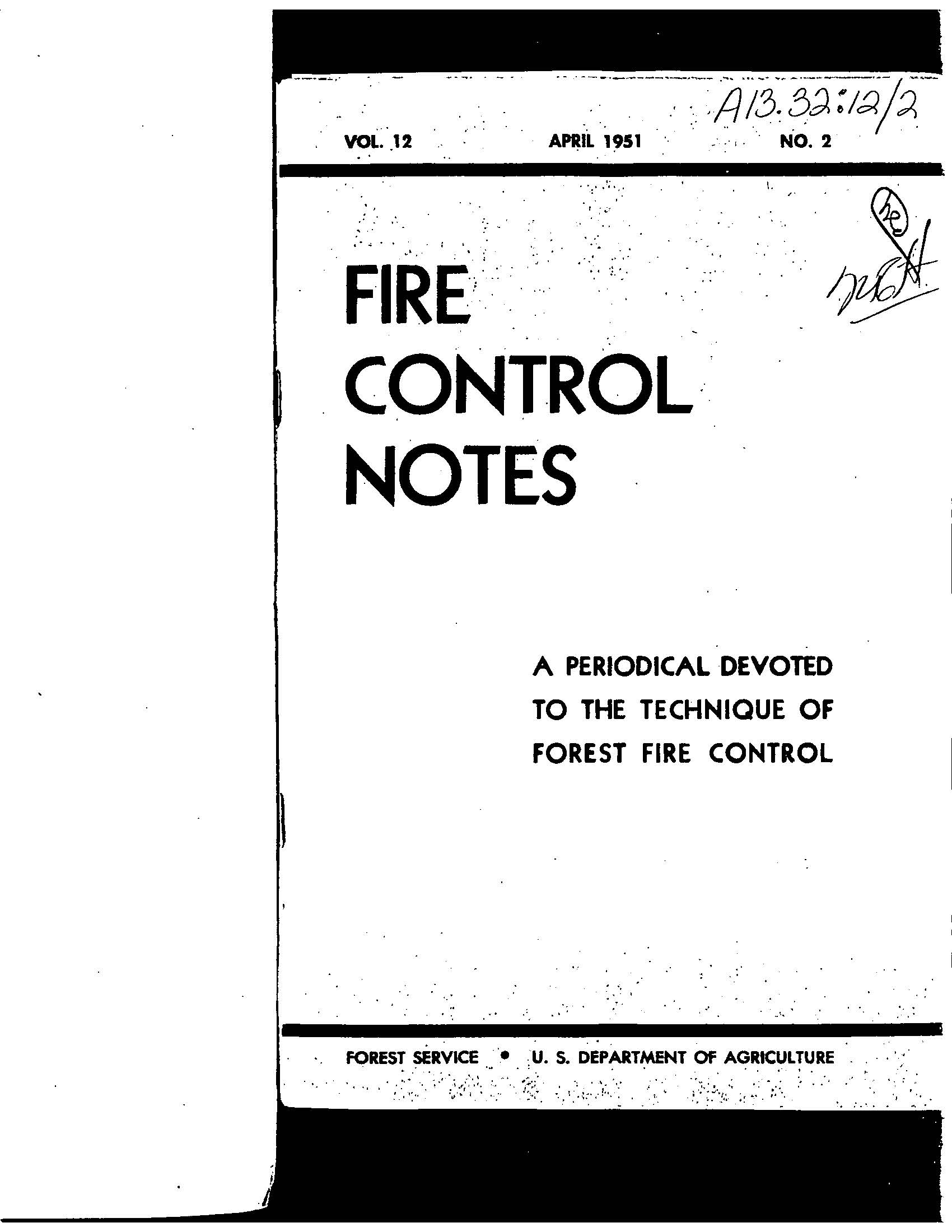 Cover of Fire Management Today Volume 12, Issue 02