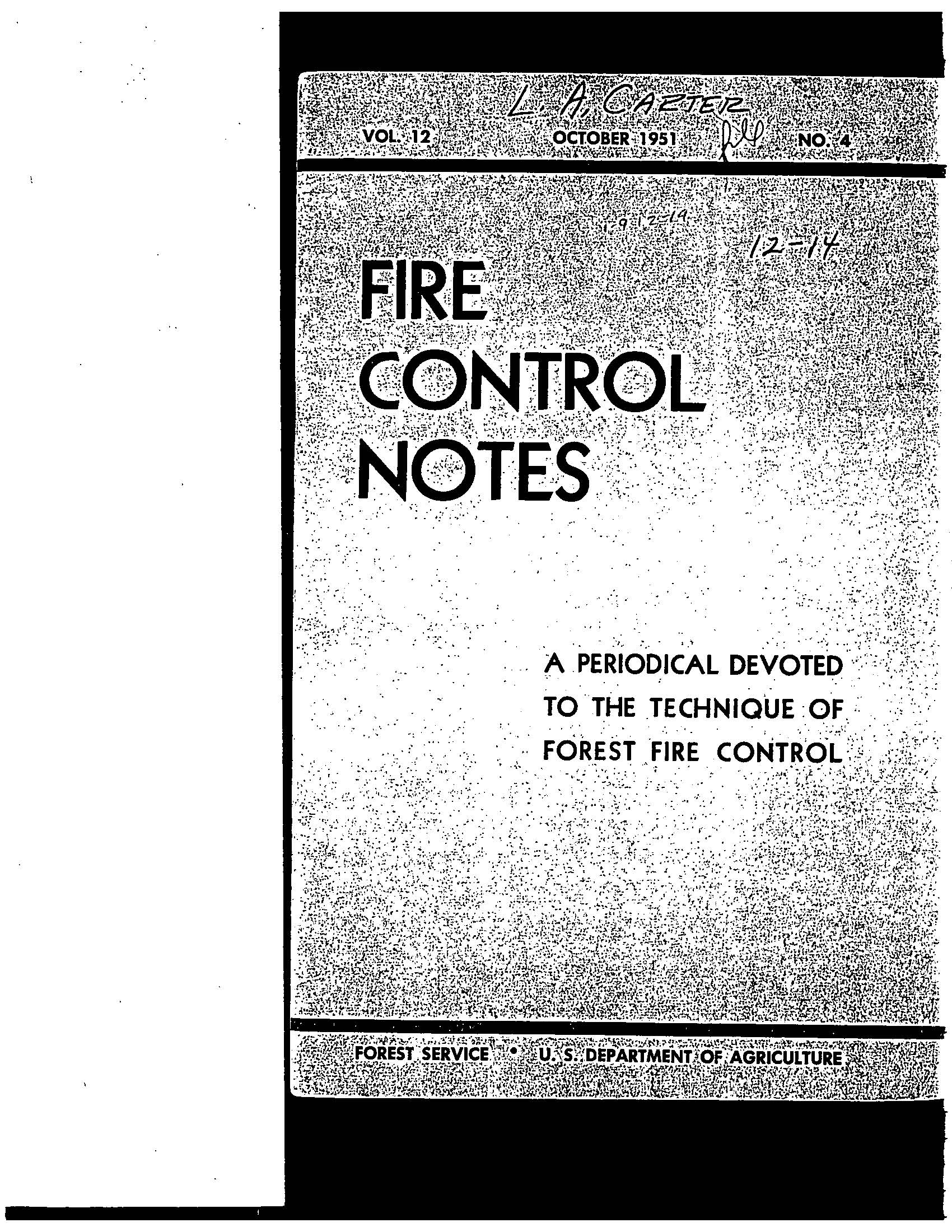 Cover of Fire Management Today Volume 12, Issue 04