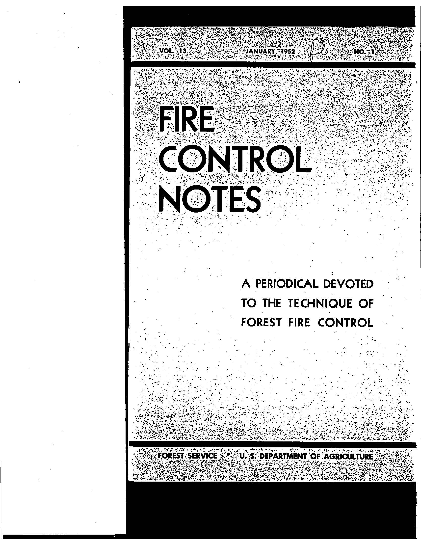 Cover of Fire Management Today Volume 13, Issue 01