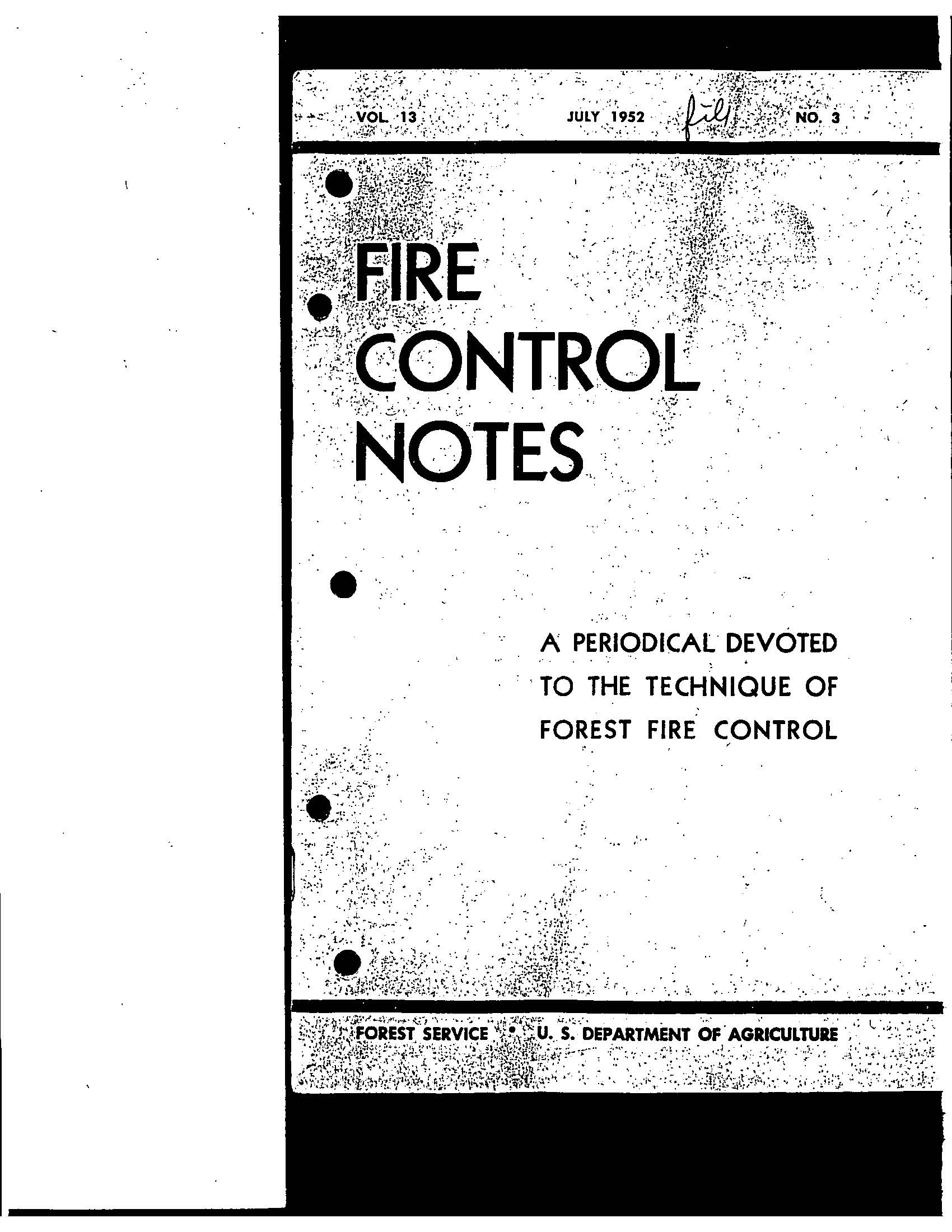 Cover of Fire Management Today Volume 13, Issue 03