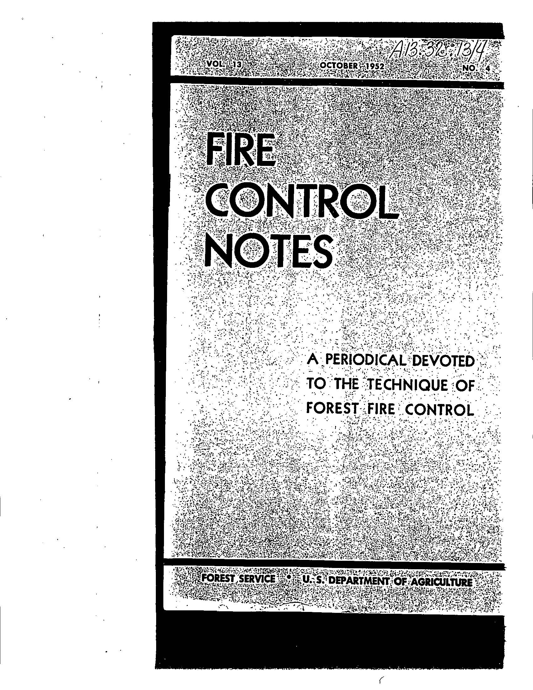 Cover of Fire Management Today Volume 13, Issue 04