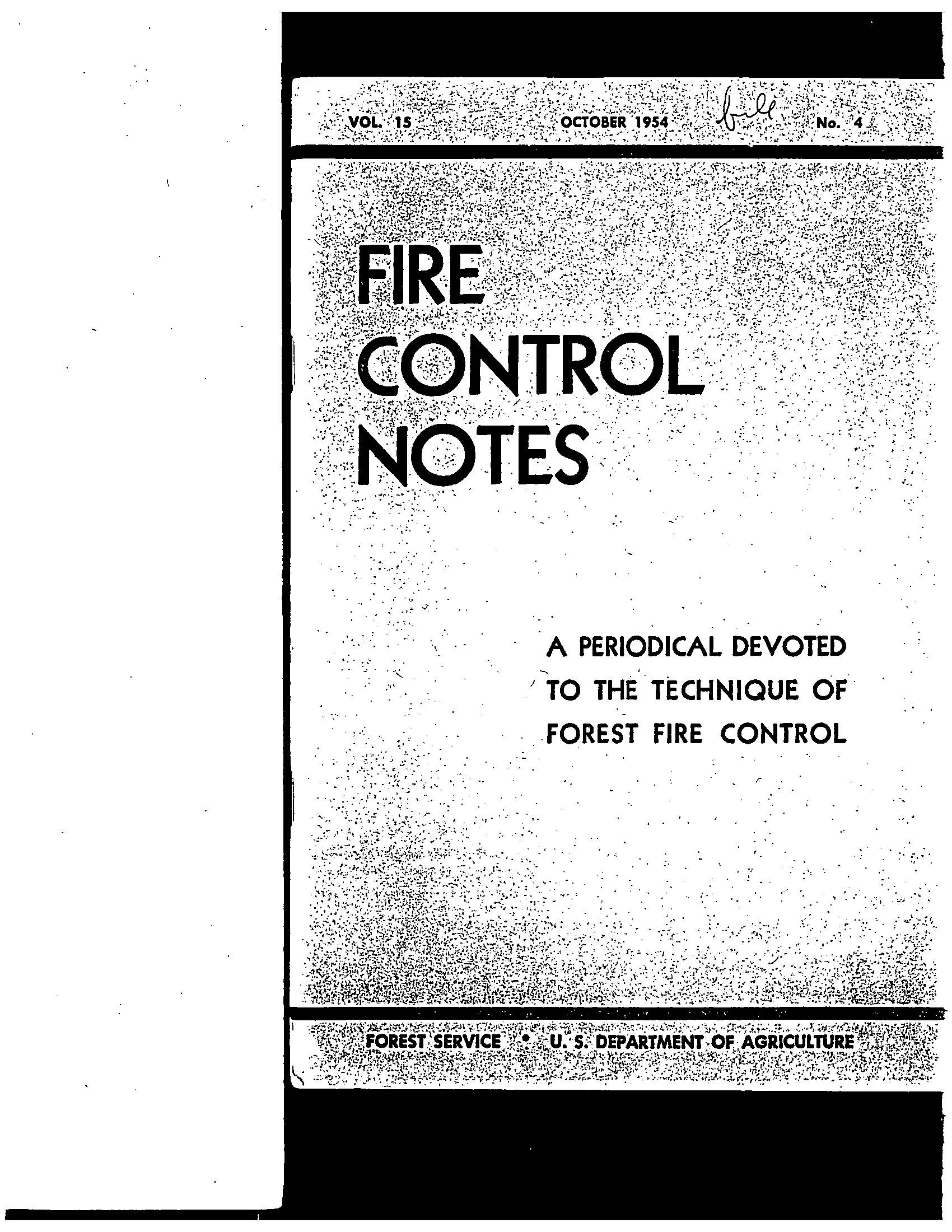 Cover of Fire Management Today Volume 15, Issue 04