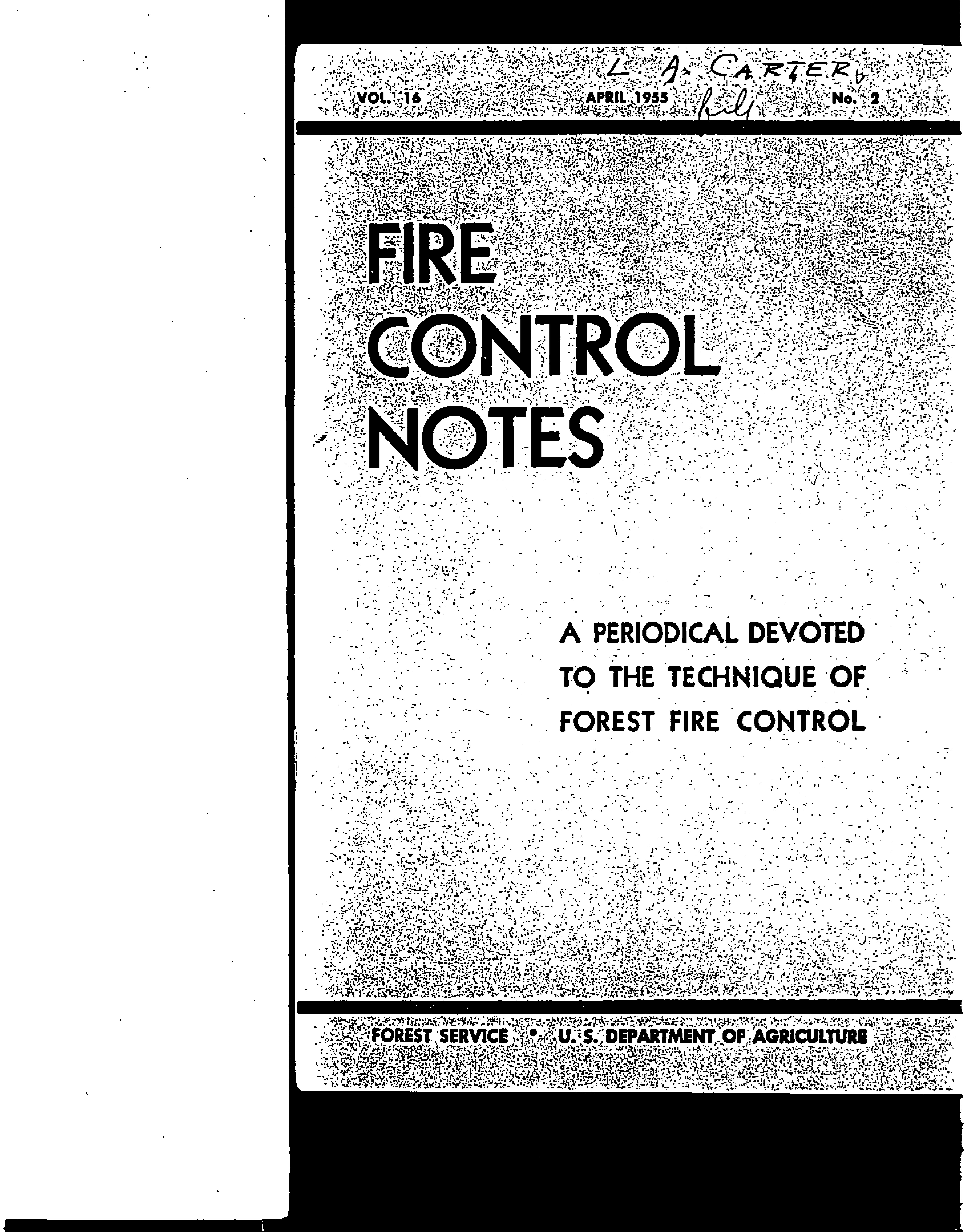 Cover of Fire Management Today Volume 16, Issue 02