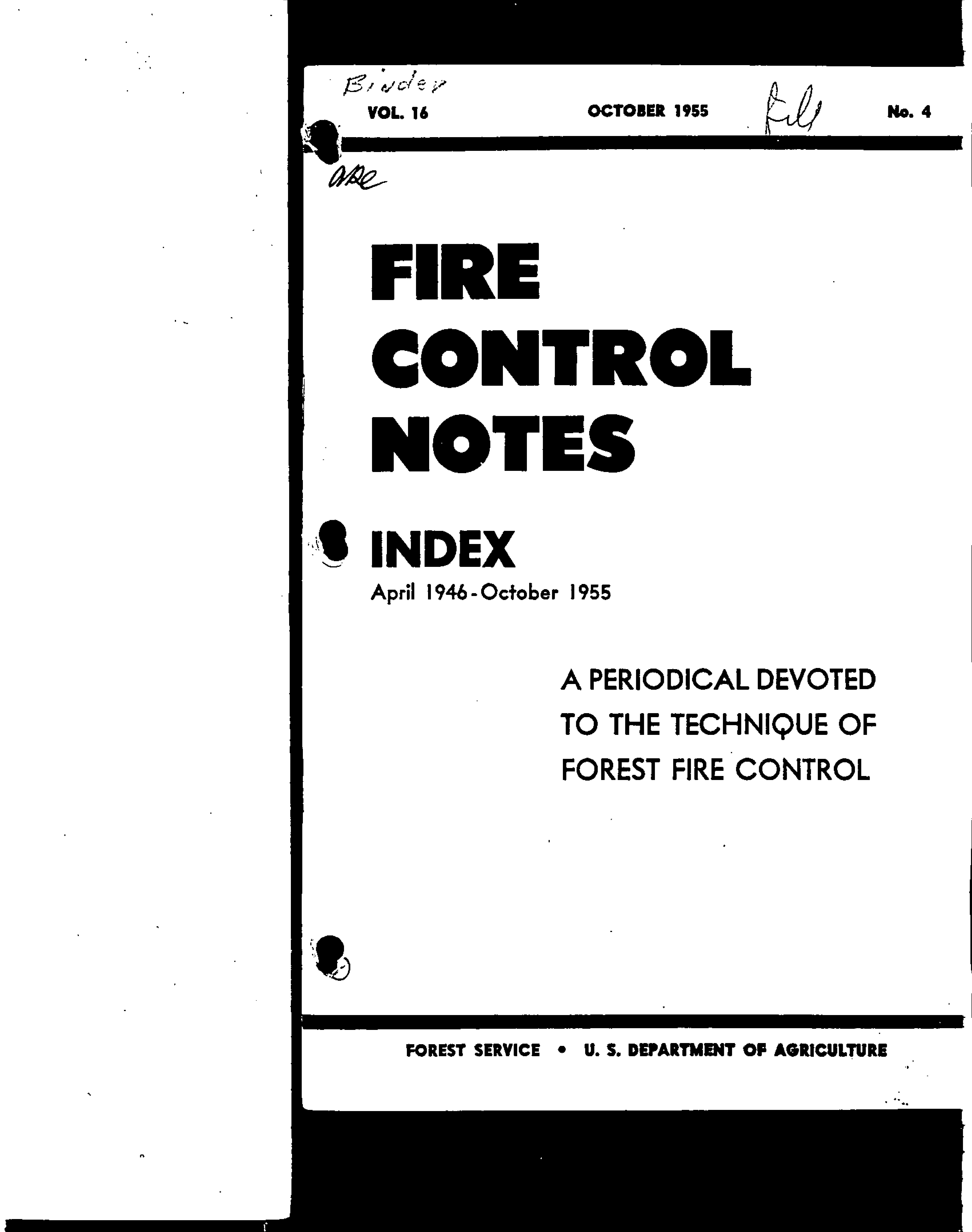 Cover of Fire Management Today Volume 16, Issue 04