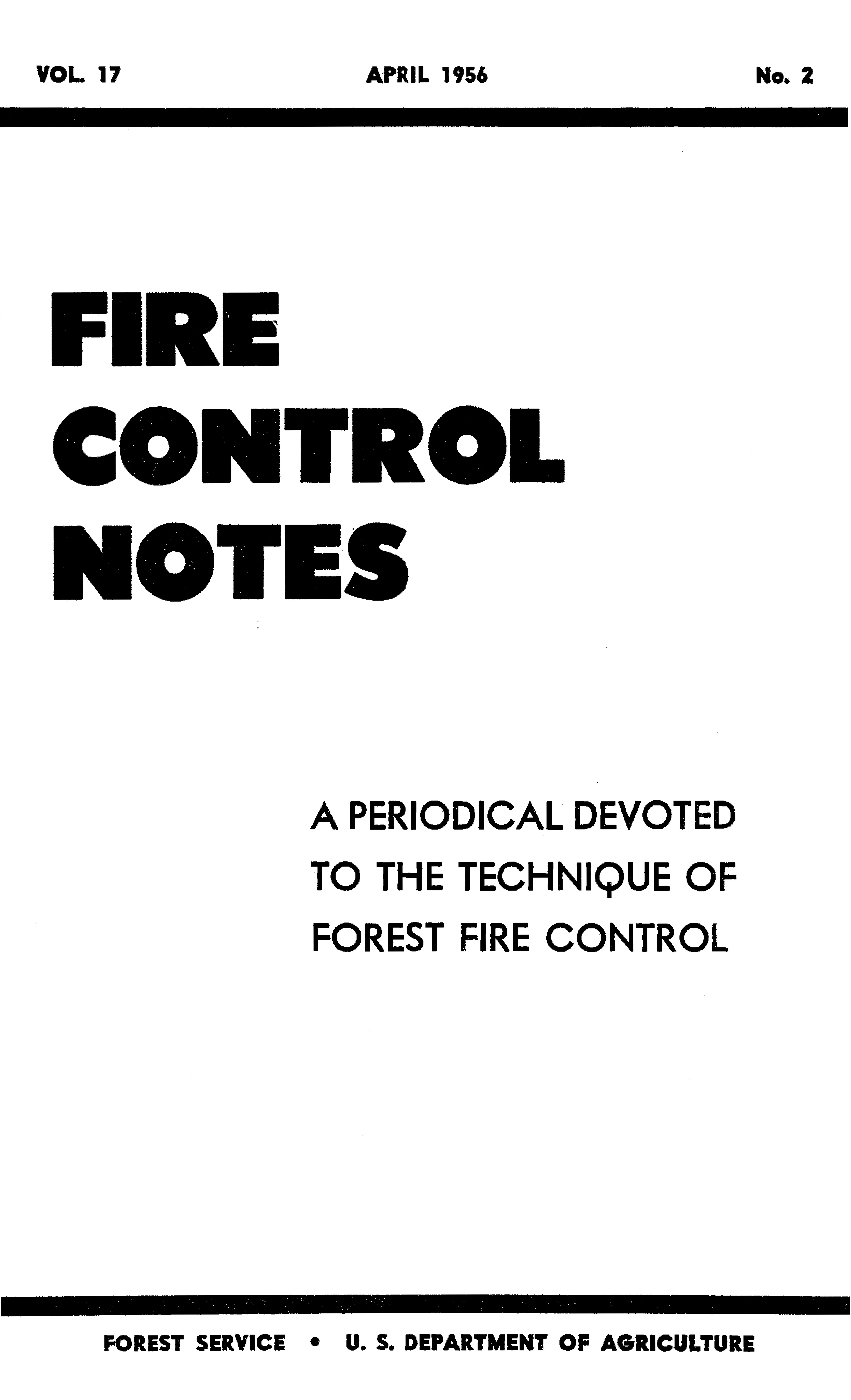 Cover of Fire Management Today Volume 17, Issue 02