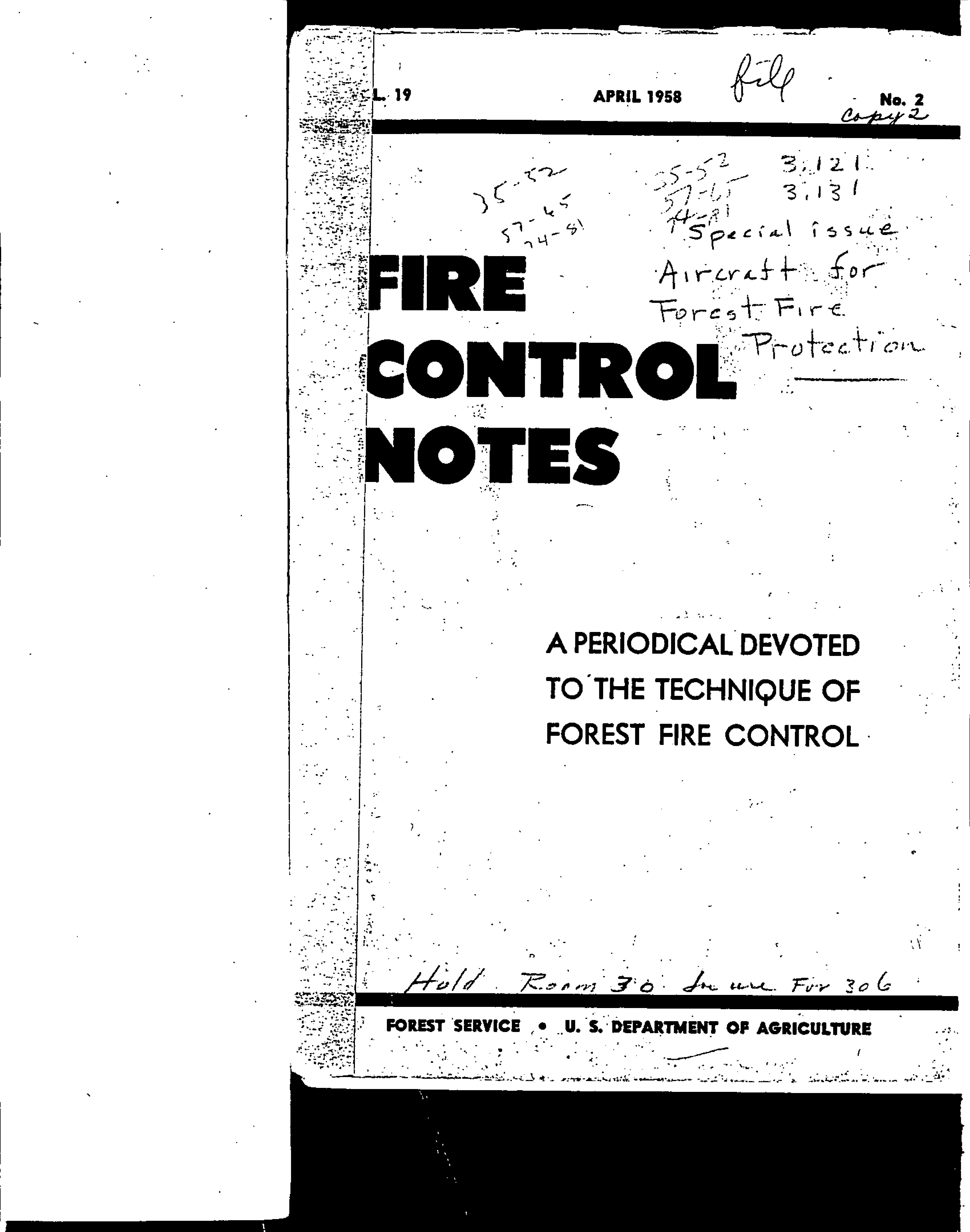 Cover of Fire Management Today Volume 19, Issue 02