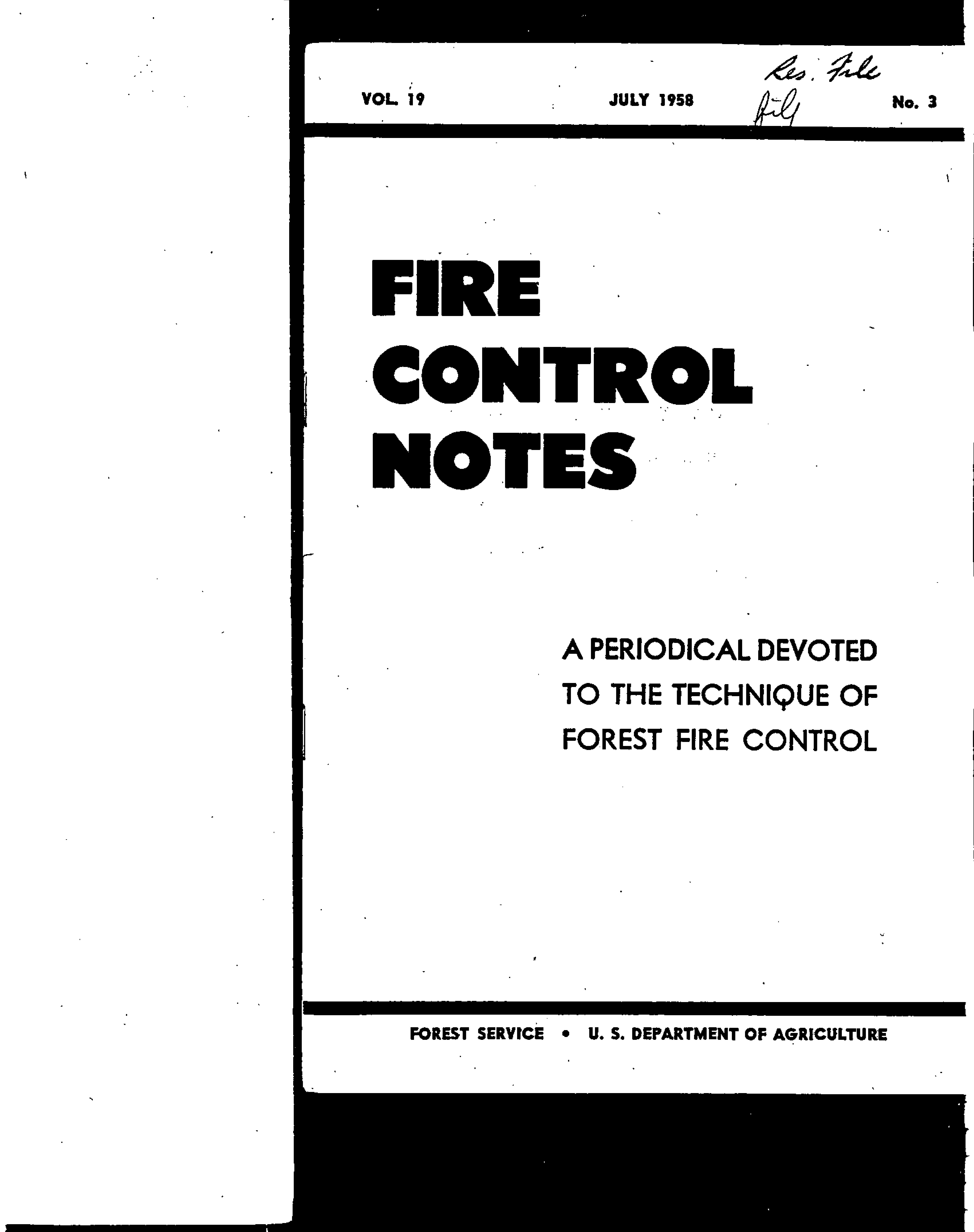 Cover of Fire Management Today Volume 19, Issue 03