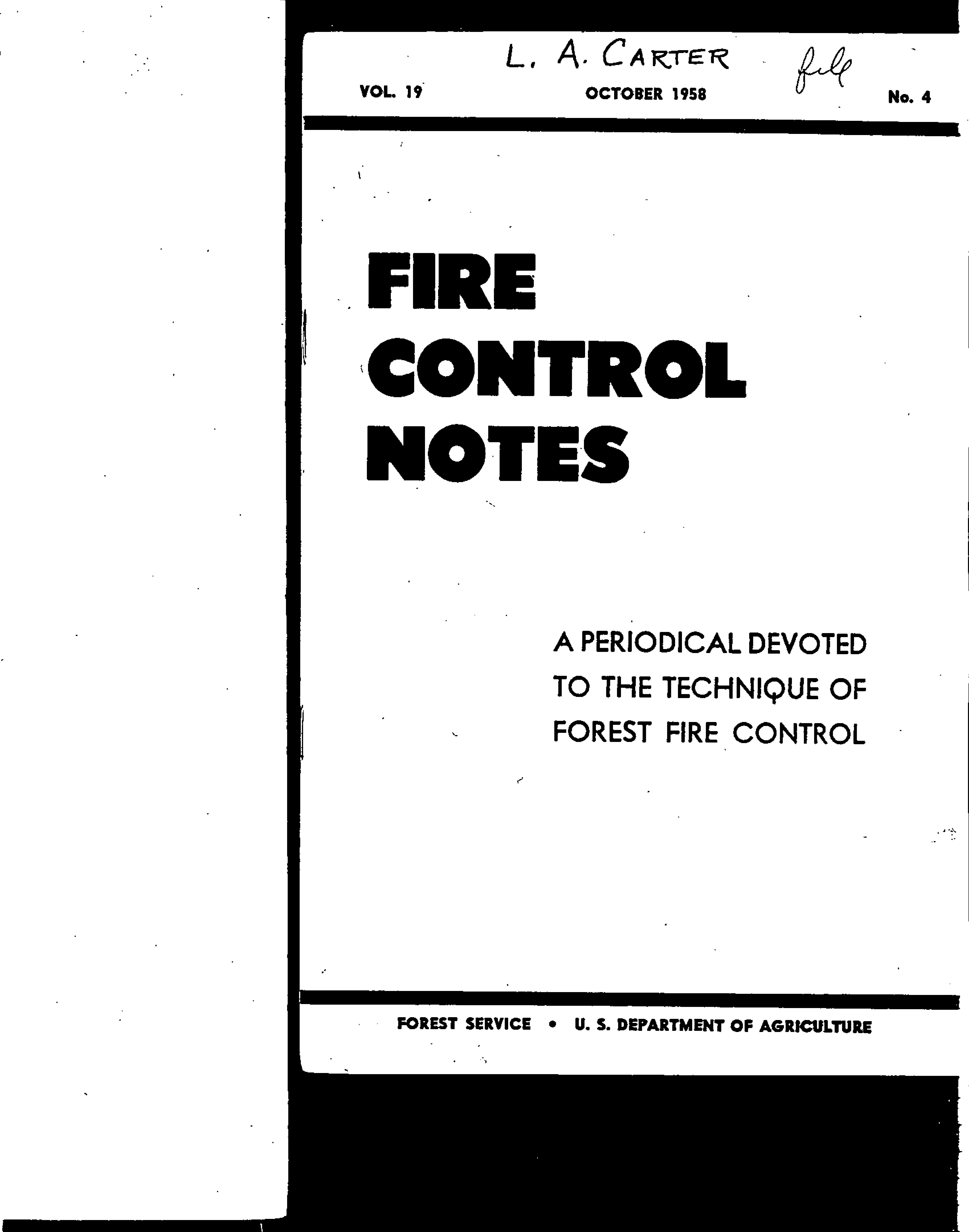 Cover of Fire Management Today Volume 19, Issue 04